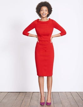 Post Box Red Marisa Ottoman Dress