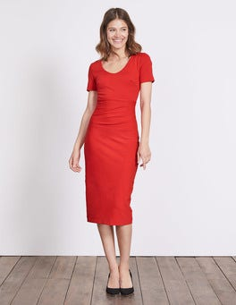 Post Box Red Honor Ponte Dress