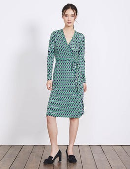 Eden Small Ribbon Wrap Jersey Dress