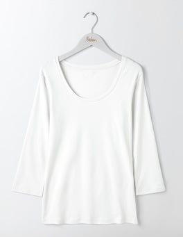 White Essential Scoop Neck