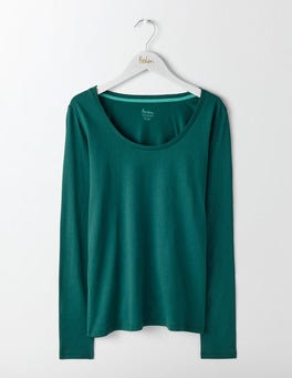 Deep Forest Supersoft Scoop Neck Top