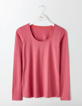 Rose Blossom Supersoft Scoop Neck Tee