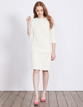 Ivory Marisole Jacquard Dress