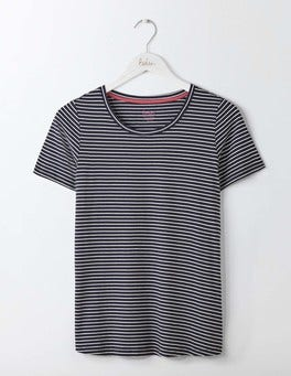 Navy/Ivory Supersoft Swing Tee
