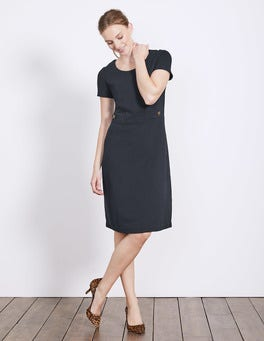 Navy Cordelia Ottoman Dress