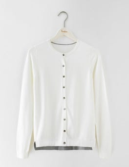 Ivory Favourite Crew Neck Cardigan