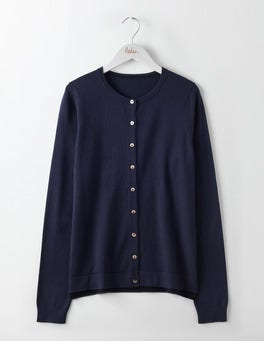 Navy Favourite Crew Neck Cardigan