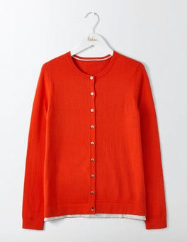 Post Box Red Favourite Crew Cardigan