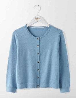 Delph Blue Favourite Crop Crew Cardigan