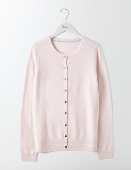 Chalky Rose Cashmere Crew Cardigan