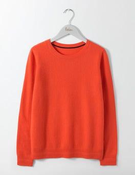 Melon Crush Cashmere Crew Neck Sweater