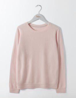 Chalky Rose Cashmere Crew Neck Sweater