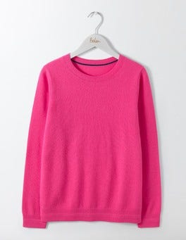 Party Pink Cashmere Crew Neck Sweater