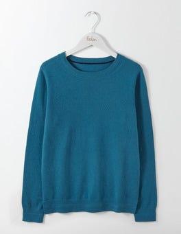 Dark Cyan Cashmere Crew Sweater