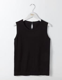 Black Favourite Knitted Tank