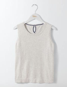 Silver Melange Favourite Knitted Tank