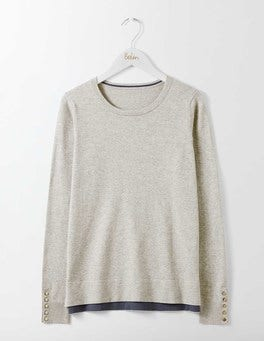 Silver Melange Tilly Sweater