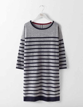 Grey Melange/Navy Stripe Millie Knit Tunic