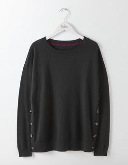 Black Grace Button Jumper