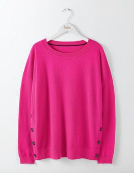 Party Pink Grace Button Sweater