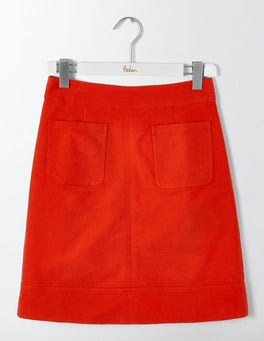 Post Box Red Dorchester Skirt