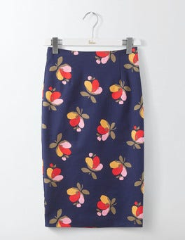 Navy Bloom Richmond Pencil Skirt
