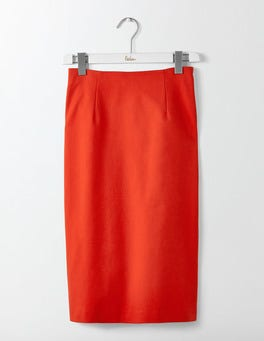 Post Box Red Richmond Pencil Skirt