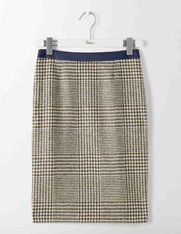 Reed Prince of Wales Check British Tweed Pencil Skirt
