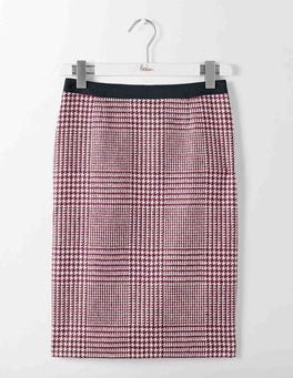 Fallen Fruit Prince of Wales British Tweed Pencil Skirt
