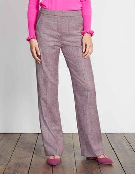 Fallen Fruit Prince of Wales British Tweed Wideleg Trousers