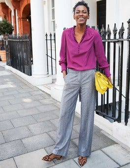British Tweed Wideleg Trousers