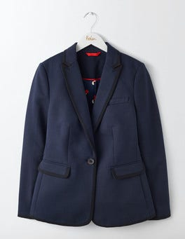 Navy with Black Tipping Picardy Tipped Blazer
