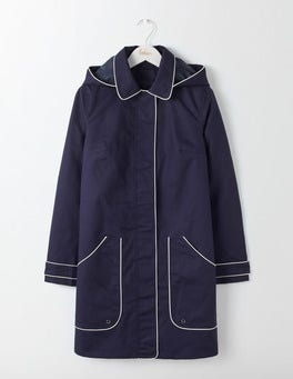 Navy Anya Waterproof Mac