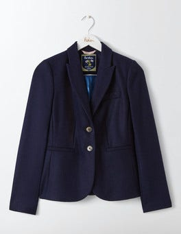 Navy Elizabeth British Tweed Blazer