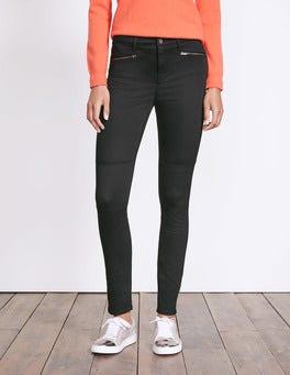 Black Brighton Biker Skinny Jeans