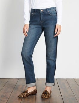 Vintage with Navy Trim Cavendish Girlfriend Jeans