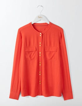 Post Box Red Ashbourne Blouse