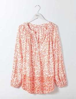 Melon Crush Blossom Spot Maya Top
