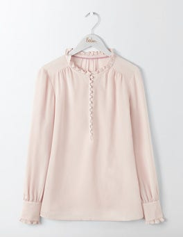 Chalky Rose Ella Silk Blouse