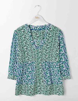 Greek Blue Bloomsbury Spot Mollie Top