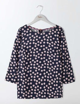 Navy Post Box Red Polka Floral Aria Tee