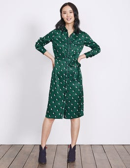 Emerald Night Shadow Spot Jenna Shirt Dress