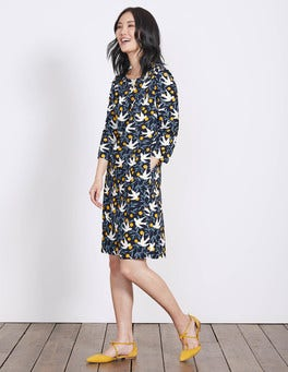 Navy Swallow Vine Alda Dress
