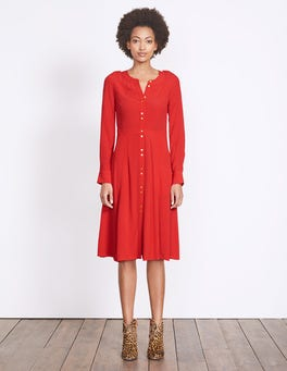 Post Box Red Ashbourne Dress