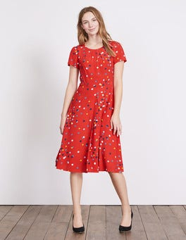Post Box Red Confetti Spot Calissa Dress