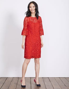 Post Box Red Brittany Lace Dress