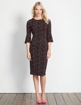 Black Pop Spot Delia Dress