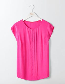 Party Pink Pleat Front Top