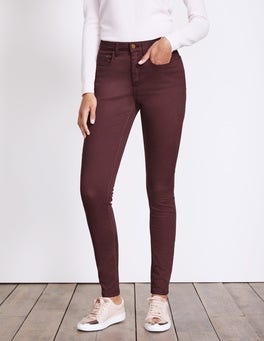 Dark Burgundy Mayfair Skinny Jeans
