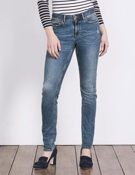 Distressed Soho Skinny Jeans